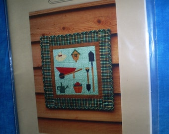 SALE  Garden Themed Foundation Paper Pieced Wall Hanging.