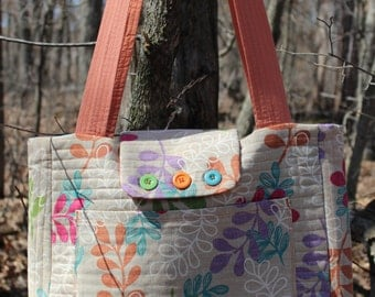 Quilted Beach Bag or Diaper Bag