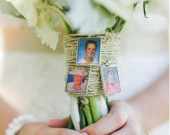 3 KITS to make Wedding Bouquet charm kits -Photo Pendants charms for family photo (includes everything you need including instructions)