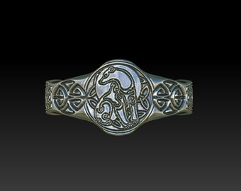 wedding ring signet ring celtic ring celtic band wedding band   ladies signet ring mens ring celtic signet ring TR5