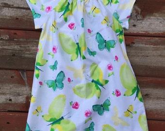 Girls Butterfly Dress or Tunic 0 3 6 12 18 2t 3t 4t 5/6 7/8 9/10