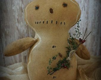 Primitive Gingerbread Man Rustic Christmas Decoration