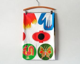 Vintage Levine and Sons Cotton Potholder Fabric Kit / Yardage Mid Century Mod