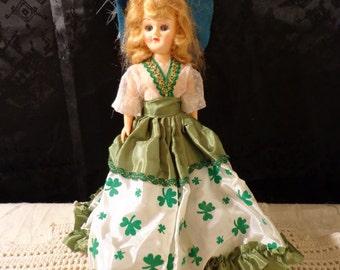 Vintage St Patrick's Day Shamrock Doll