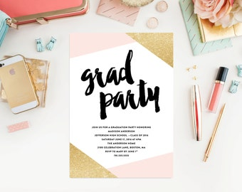 Corners Graduation Party Invitation