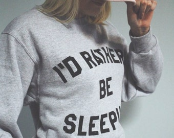 I'd Rather Be Sleeping, Off Shoulder Shirt, Customizable Tees, Teen Girl Shirt, Women's Tees, Gifts for Her, Funny Graphic Tee, Mom Shirt