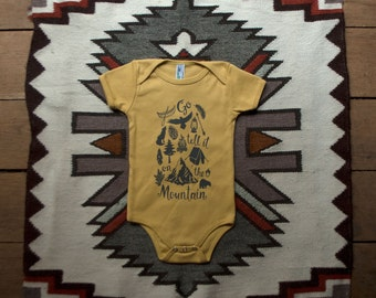 Go Tell it on the Mountain | Organic Eco-friendly Baby Onesie
