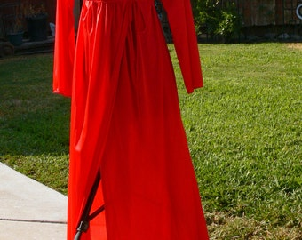gilead red long robe size med