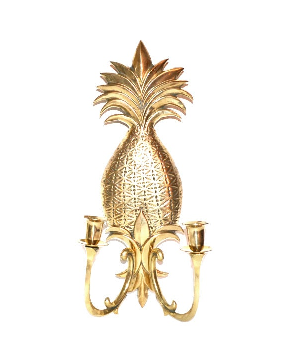 Pineapple Sconce Pineapple Candle Holder Pineapple Wall Sconce
