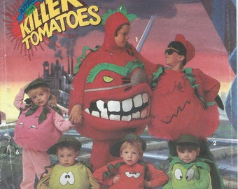 UNCUT Simplicity 7527 Attack of the Killer Tomatoes Children's Size A SM-LG