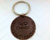 We LOVE Grandpa Key Chain - Father's Day Gift Ideas - Stepdad Gifts - Bonus Dad gifts - Personalized Keychains for Men - The Charmed Wife