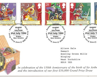 Gilbert & Sullivan First Day Cover - SALE