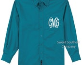 6 Personalized Bride and Bridesmaids Button Down Shirts - Monogrammed Oversized Shirts