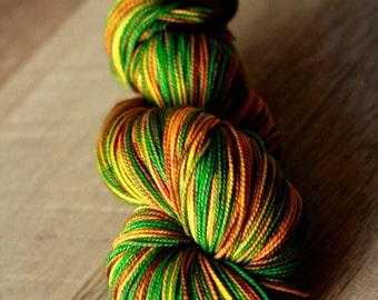 "Sock yarn - 100% SW Merino - Christmas - ""Figgy Pudding"""