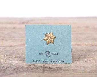 "Scout Pin / 1970's Girl Scouts Membership Star Pin 9-652 / 1/2"" Collectible Pin / Scout Pin / Vintage Scout Pin / Old Scout Pin"