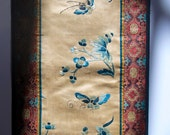 antique chinese embroidery on silk with border
