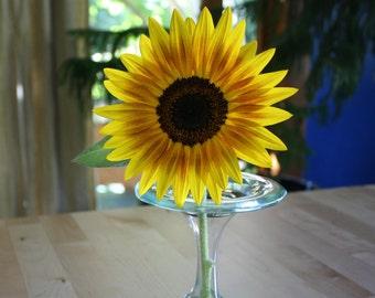 Set of 2 Reclaimed Glass Bud Vases