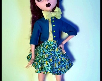 "Monster 17"" Doll Outfit  - Pret-a-porter - Spring afternoon Outfit"