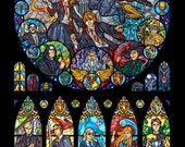 Full Size - Harry Potter Stained Glass Illustration