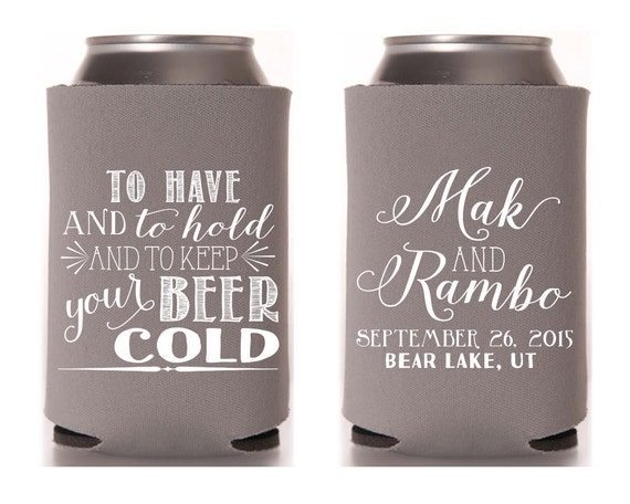 Wedding Favors To Have And To Hold To Keep Your Beer Cold
