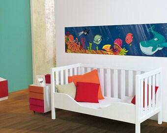 Individualizable panoramic-wallpaper UNDERWATERWORLD