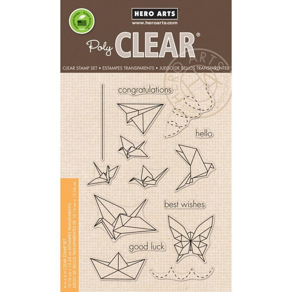Hero Arts Origami Animals Cl942 Clear Stamp