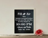 Custom Wedding Bubbles Send Off Printable,Bubbles Send Off,Bubbles Wedding Sign,Wedding Printable,Personalized Wedding Sign, CG015