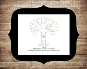 Custom Family Tree, Typography Art, 11x14