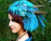 WATER ELEMENT Feather Headdress