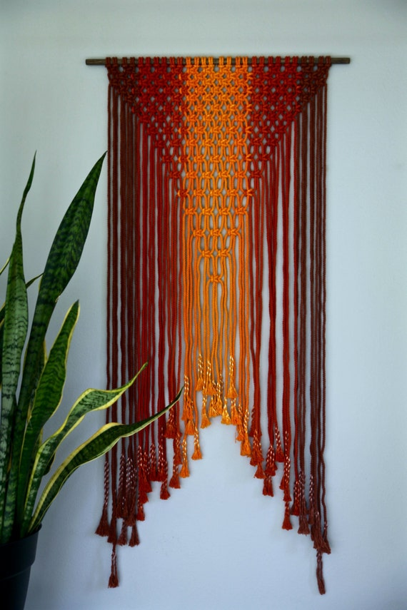 Sale Off Macrame Wall Hanging Hand Dyed Cotton Rope