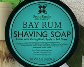 Mens Shaving Soap, Handmade Shaving Soap, Bay Rum Shave Soap, Father's Day Gift, Shave Soap in a Jar