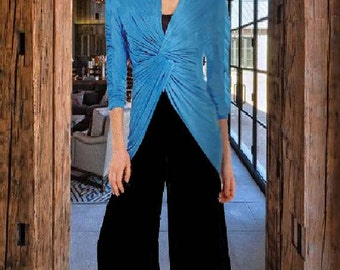 Knoted Front Jacket Made To  Measurement Matte Jersey Many Colors and Prints