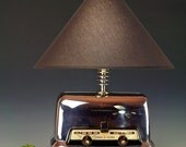 Fabulously COOL vintage GE Toaster Oven table lamp. Retro 50s atomic modern bedside lamp. 260. Space age desk lamp.
