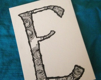 Illustrated Letter - E
