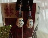 Owl Earrings, Glass Owl Bead, Owl Dangle Earring, Everyday Jewelry, Owl Jewelry, Hypo-allergenic Jewelry, Christmas Gift Idea