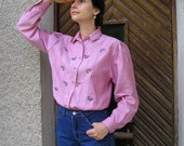 ON SALE: Vintage Embroidered Country Blouse Size M