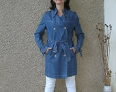 ON SALE: Vintage 90s Double Breasted Trench Coat size S-M