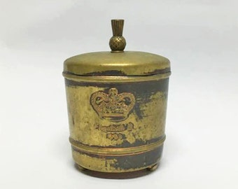 English Tea Can Box  /  Vintage Purity Tips Copper Canister