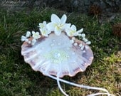 Beach ring bearer seashell. Beach wedding ring bearer pillow. Shell for wedding rings.