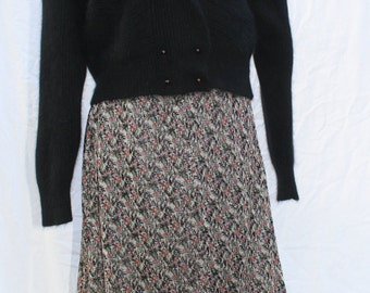 1970's Vintage Metallic Maxi Skirt Size Small/ Medium