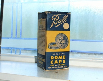 Ball Jar Lids EMPTY Box Vintage 1930s Farmhouse Decor Mason Jar