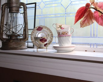 4 Vintage Tea Cups and Saucers Collection Mix and Match Sets Wedding Bridal Tea Party Shower Hostess Luncheon Gifts Bone China