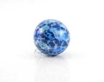Blue Blown Glass Ornament - O22