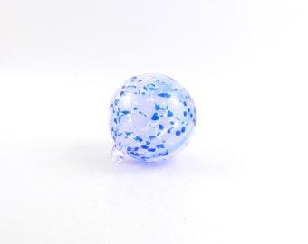 Blue Blown Glass Ornament - O18