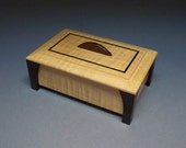 Maple & Wenge Leg Box- Lacquer Finish, Treasure Box, Home Decore, Trinket Box, Small Wooden Box, Keepsake Box, Handcrafted  Gift Idea