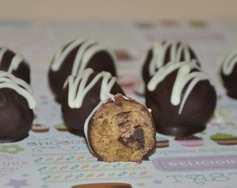 Cookie Dough Truffles Chocolate Chip  Balls Candy  Bonbons Gift Box  Wheat Free !