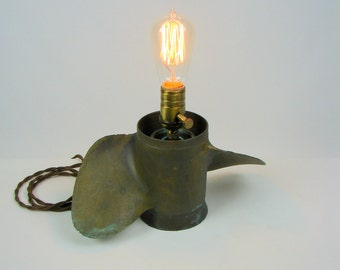 Table Lamp Upcycled Vintage Boat Propeller Lighting