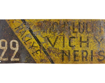 1920s French Motorcar Racing Rallye Sign, Historical French Motorsport