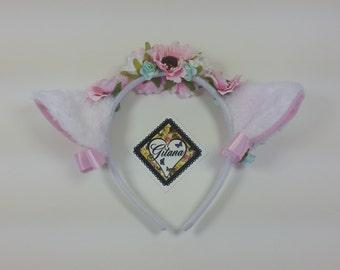 White Cat Headband- Lolita Cat Headband-Neko-Cosplay-Festivals-Lolita Accessories-Cat Ears