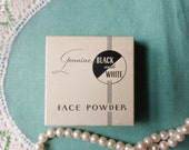 Flesh Natural Color (Pinkish Ivory), Black and White Face Powder from the 20's, Never Opened 2 oz Box